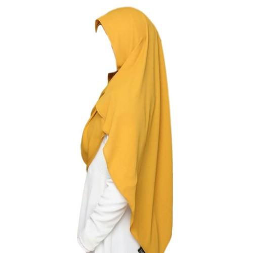 Maxi Shawl Hijab (Yellow Gold)