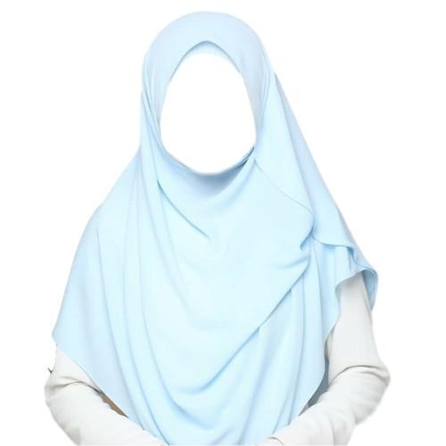 Maxi Shawl Hijab (Light Blue)