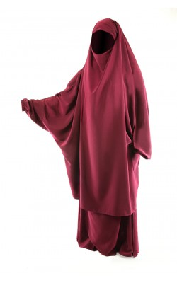Two Piece Jilbab Burgundy