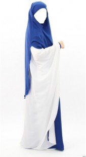 Khimar Warda with Side Slits Royal Blue