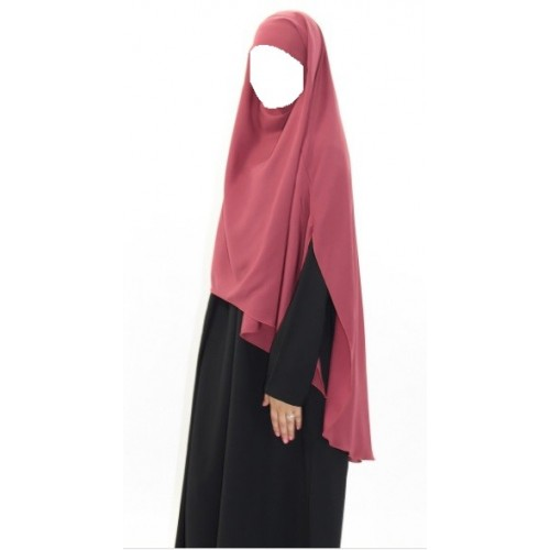 Khimar Warda with Side Slits Red Earth