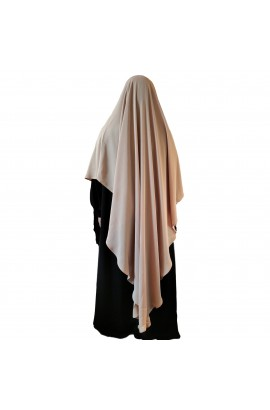 Khimar Diamond Curve Beige  (Long)