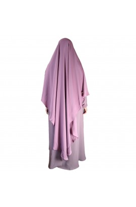 Khimar Diamond Curve Mauve  (Long)