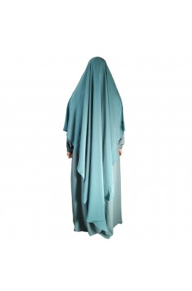 Khimar Diamond Curve Mint Green  (Long)
