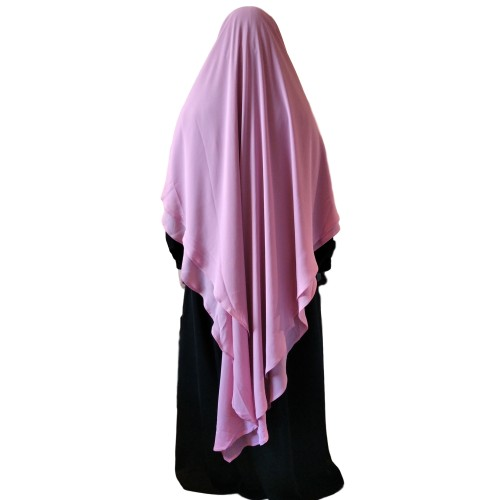 Khimar Two Layer Mellow Mauve (Extra Long)