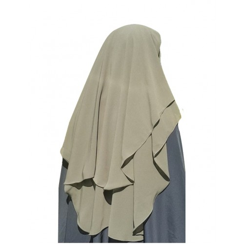 Three Layer Niqab Green with Nose String (Long)